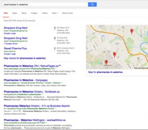 Geographical Search Results